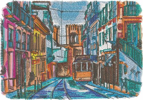 Lisbon embroidery design