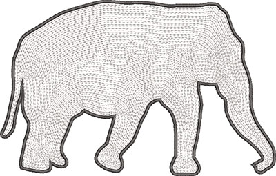 elephant satin outline