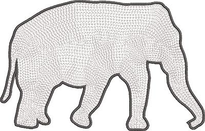 elephant satin outline