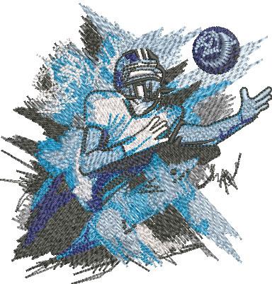 Football Paint Splash Embroidery Design