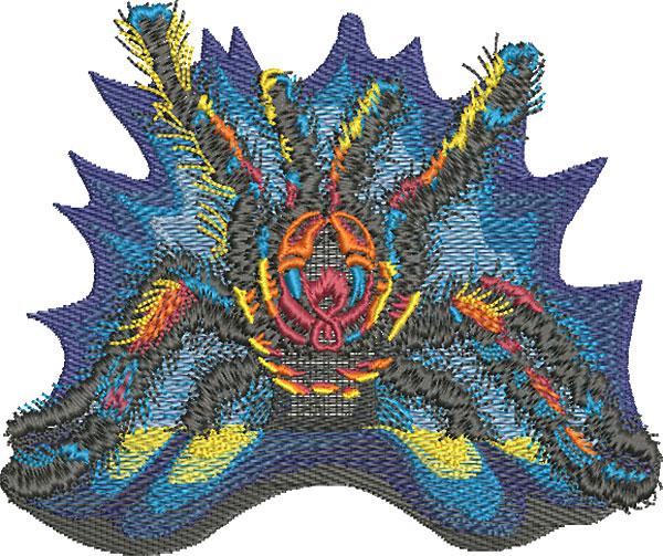 tarantula front embroidery design