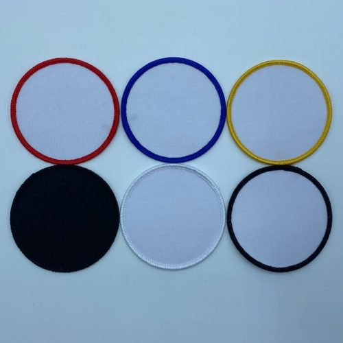 Circle embroidery patches in different colors