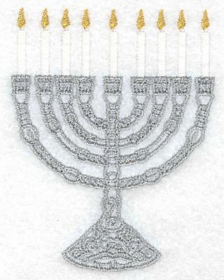 menorah embroidery design