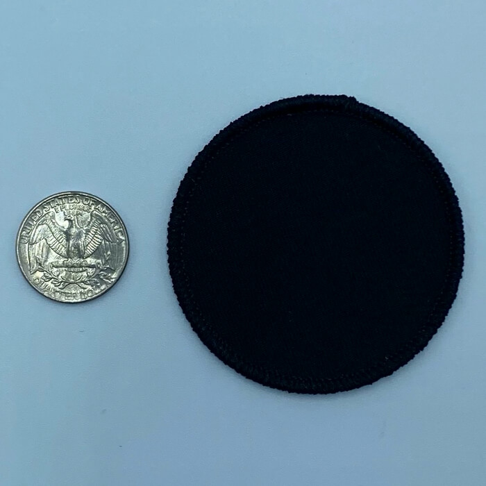 Circle black 2.5 inch embroidery patch