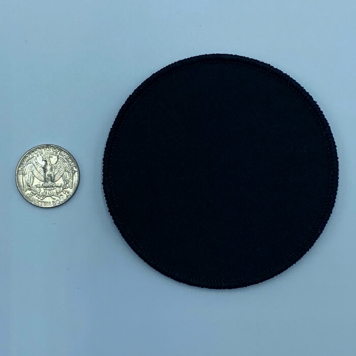 Circle black 3.5 inch embroidery patch