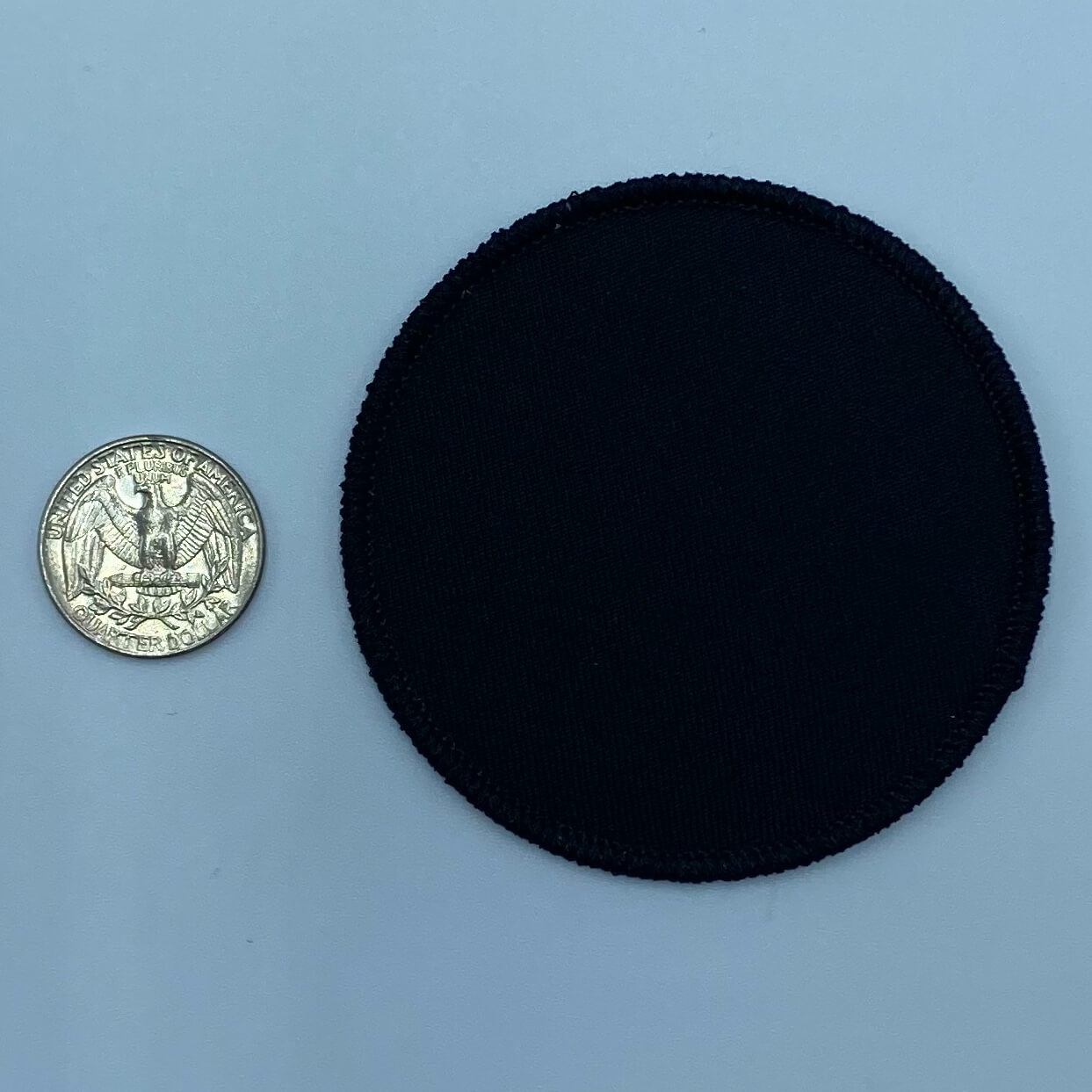 Circle black 3 inch embroidery patch