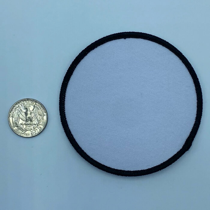 Circle black and white 3.5 inch embroidery patch
