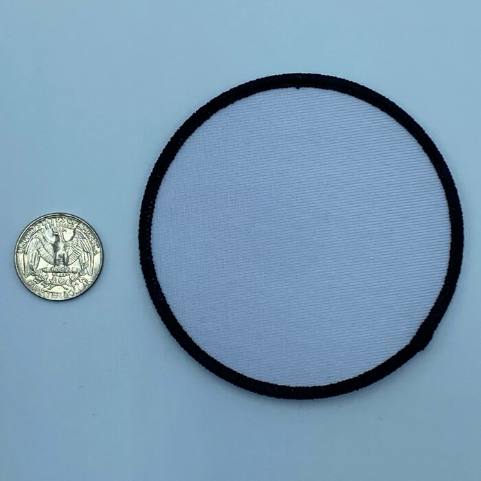 Circle black and white 3 inch embroidery patch