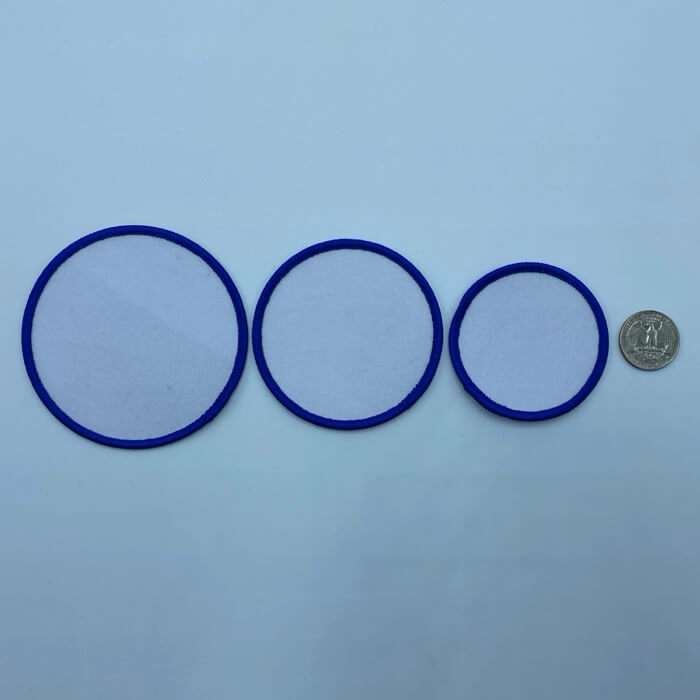 Circle blue 3 sizes embroidery patches