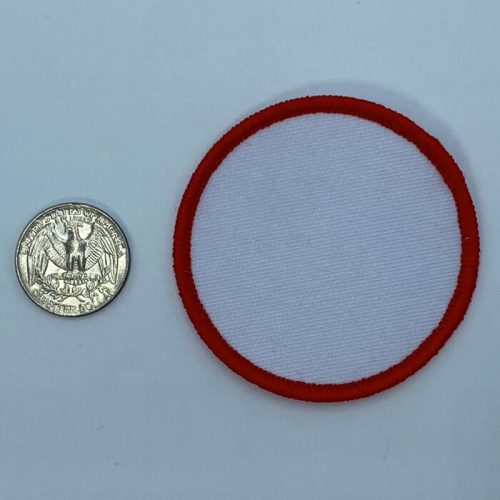 Circle red 3 inch embroidery patch