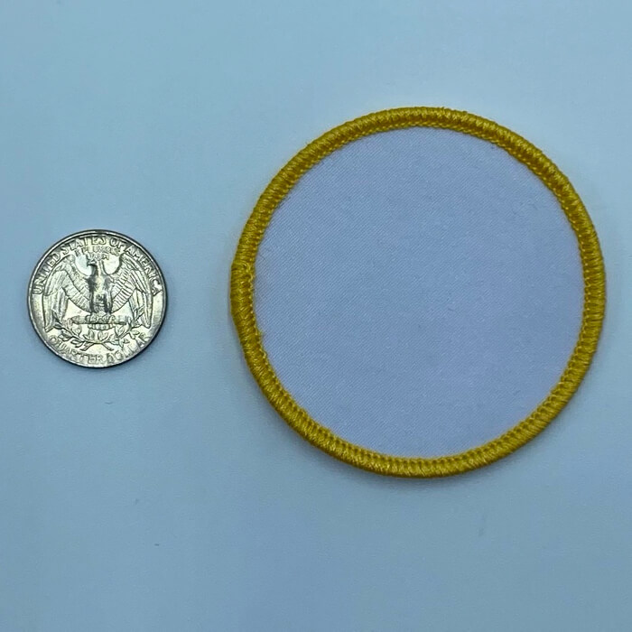 Circle yellow 2.5 inch embroidery patch