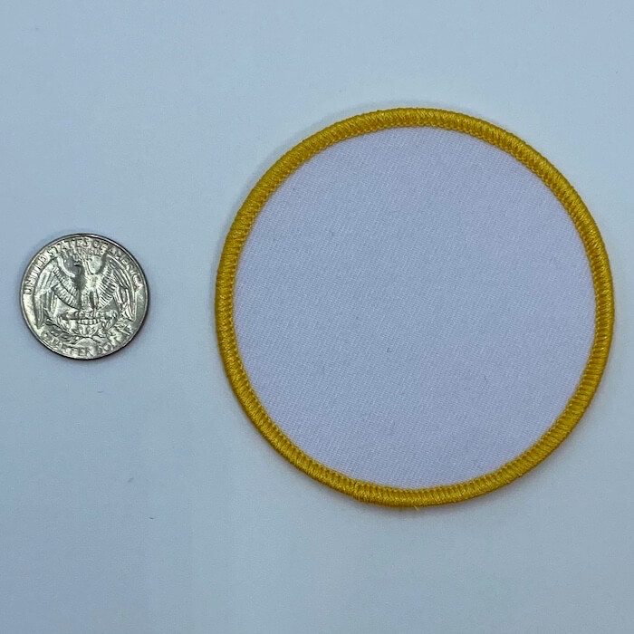 Circle yellow 3.5 inch embroidery patch