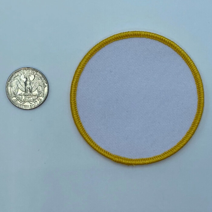 Circle yellow 3 inch embroidery patch