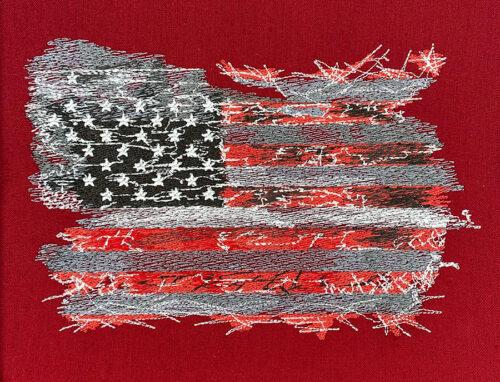 american flag distressed
