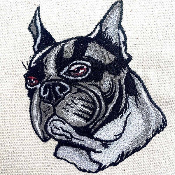 boston terrier sew out