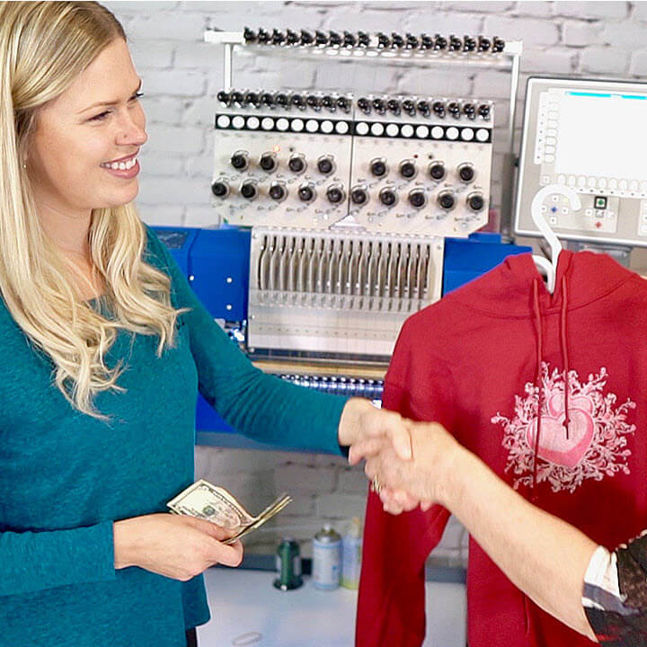 how to make money with embroidery workshop