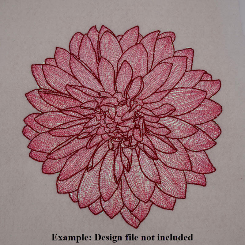 Mylar Embroidery Design Example 1