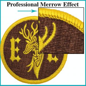 Embroidery Patch Merrow Edge Example