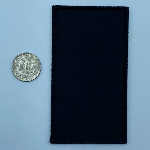 Rectangle black 3 inch embroidery patch