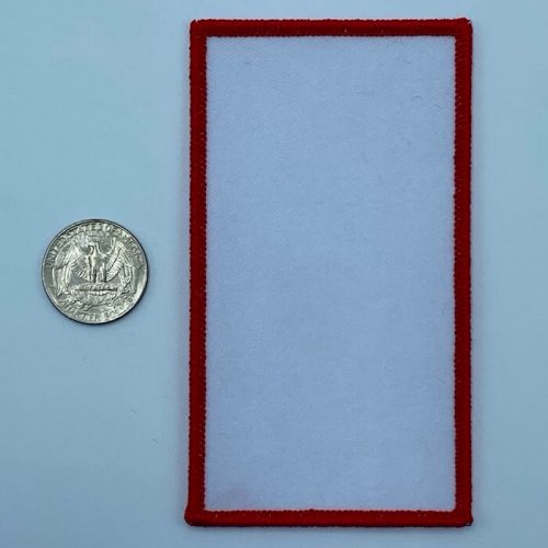 Rectangle red 3 inch embroidery patch