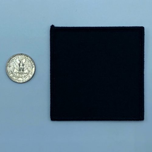 Square black 3 inch embroidery patch