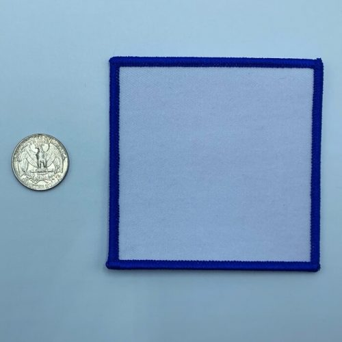 Square blue 3.5 inch embroidery patch