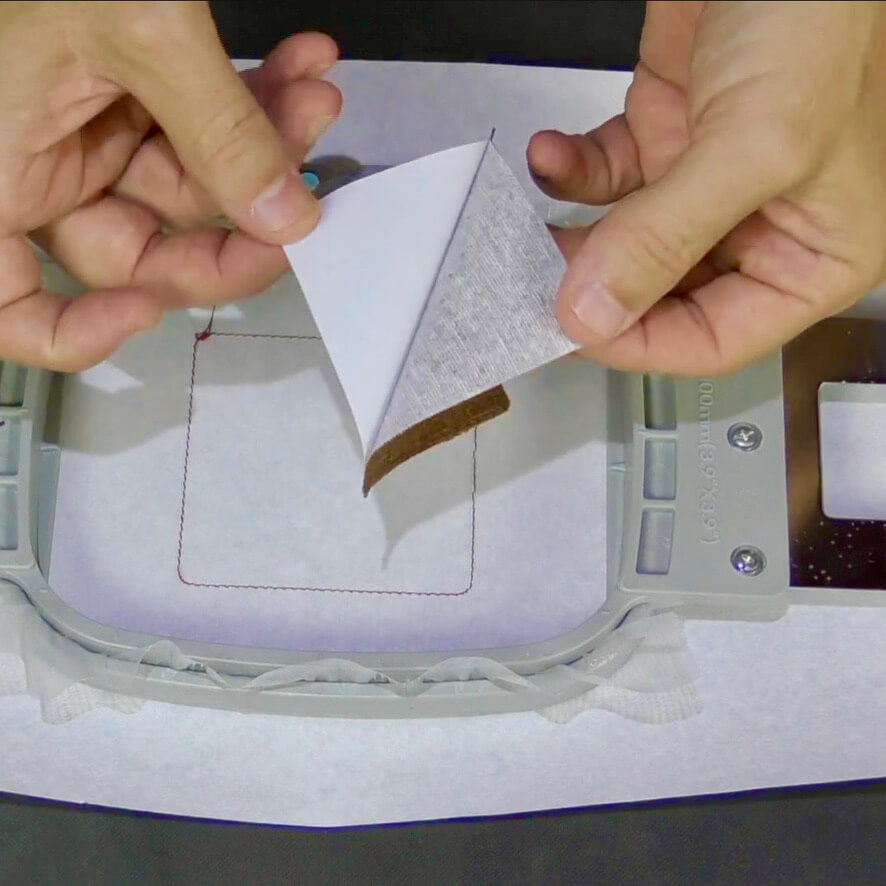 Tacky Patch Fusible Stabilizer in Use