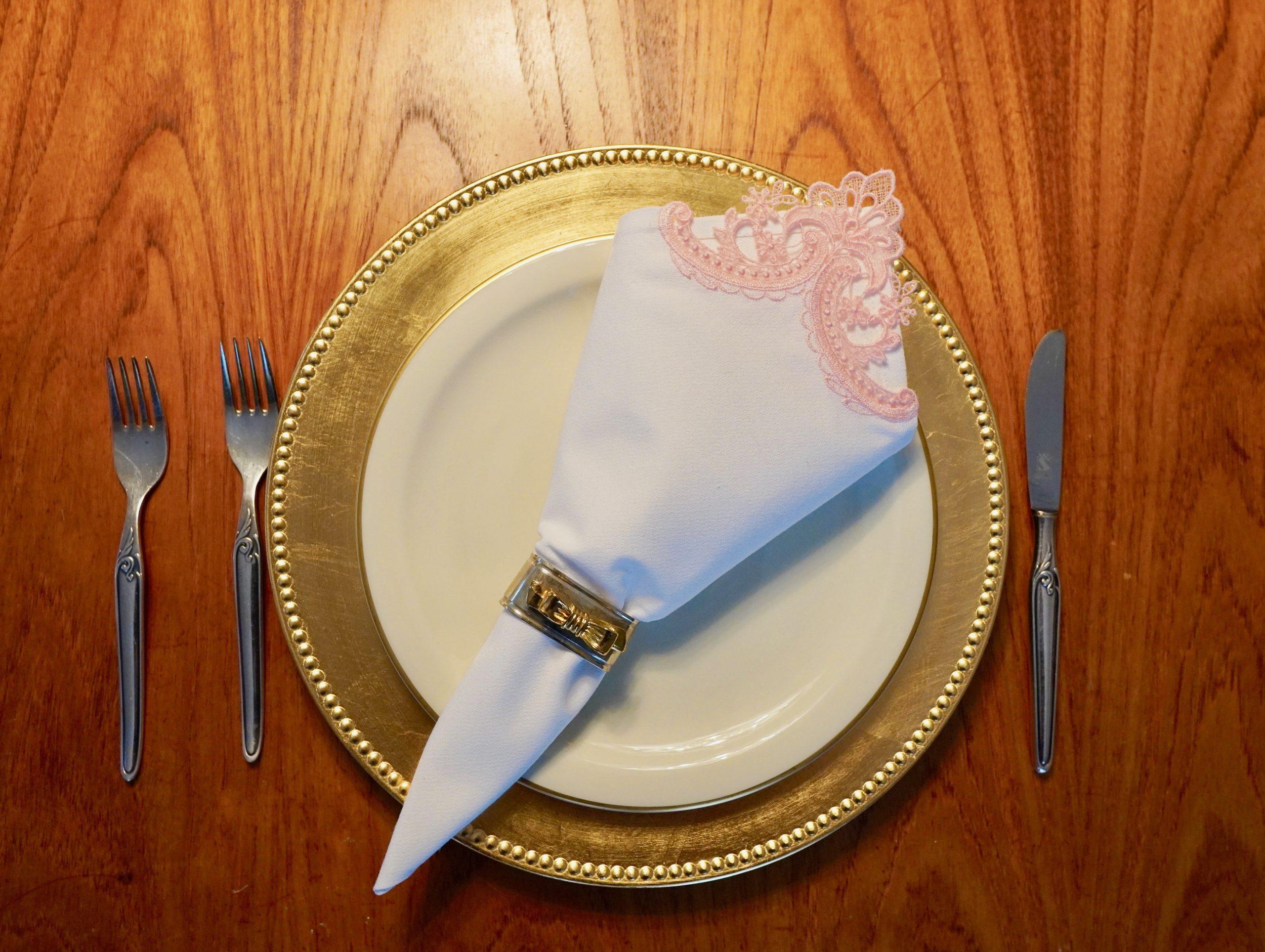 cutwork lace napkin
