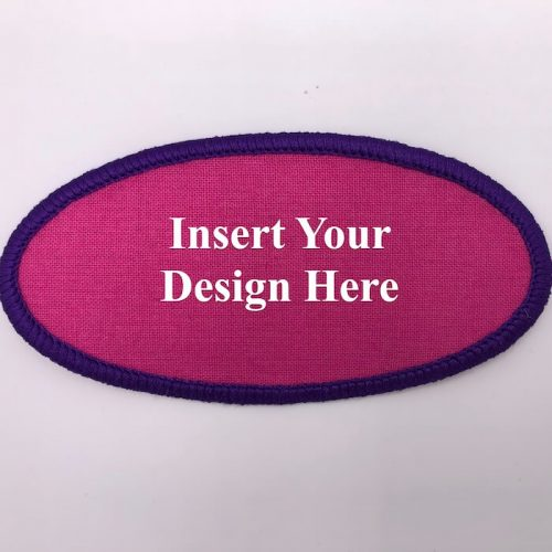 oval embroidery patch design file insert