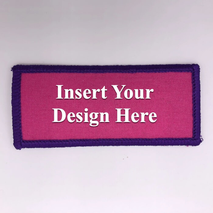 rectangle embroidery patch design file