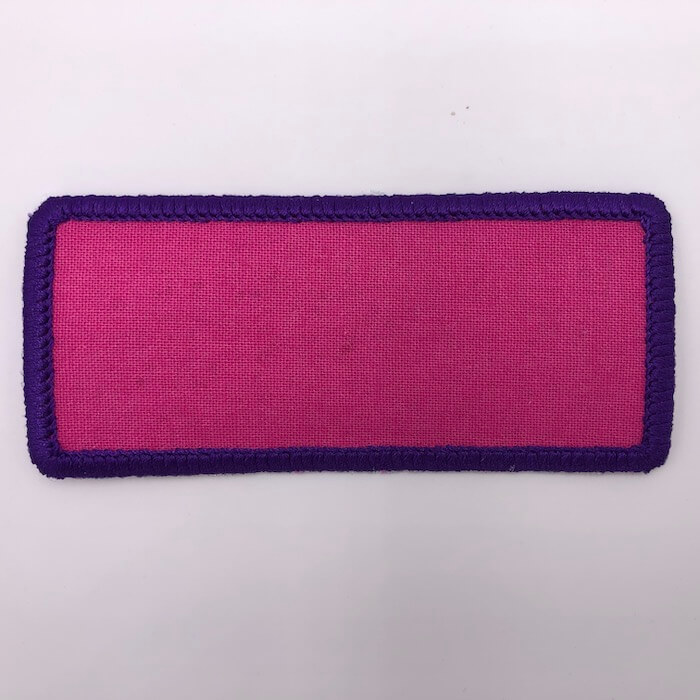 rectangle round embroidery patch design