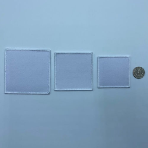 white square patch 3 sizes