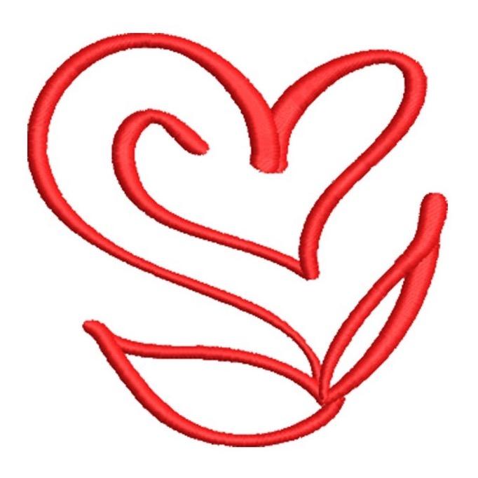Artistic Flower Heart