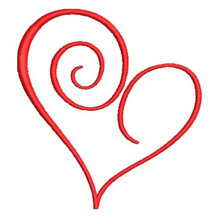 Artistic Heart Swirls