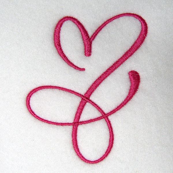 artistic heart sewout