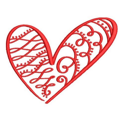 Artistic Swirly Heart