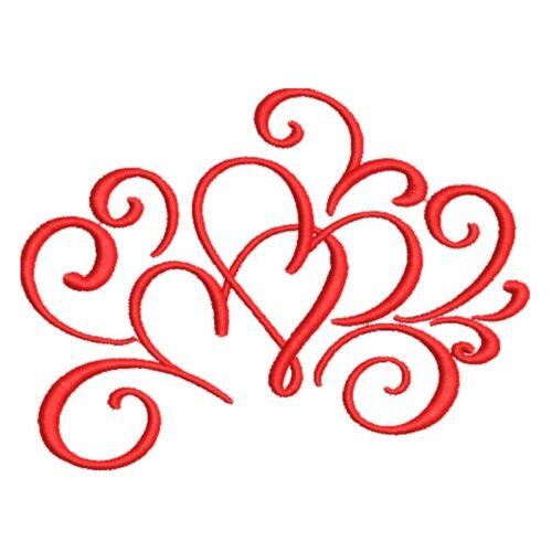 Artistic Swirl Hearts