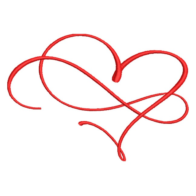 Artistic Heart With Swirl