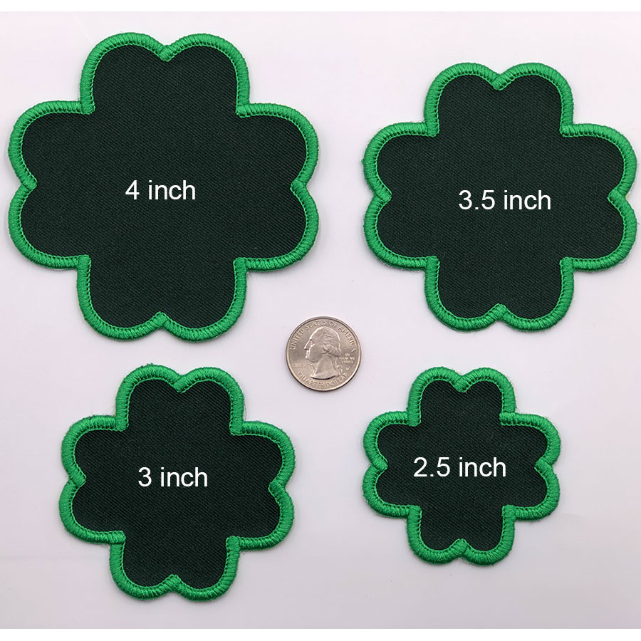 clover patches embroidery design