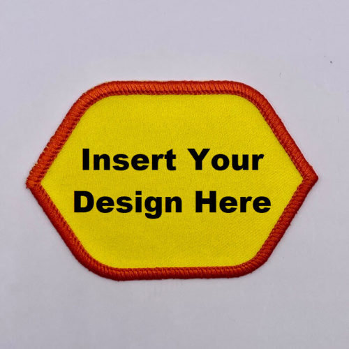 Embroidery Patch Design Pointed Oval with lettering