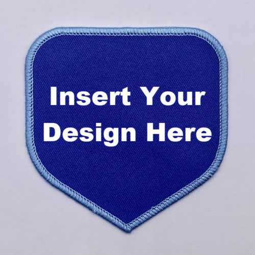 Embroidery Patch Design Shield 2 with lettering