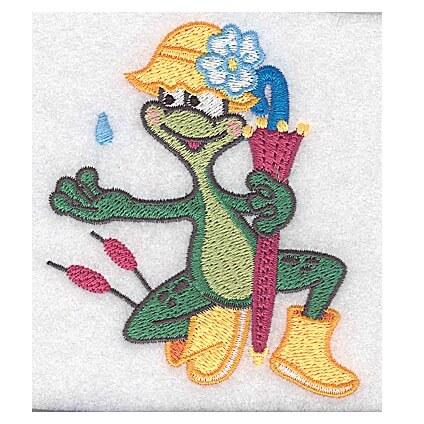Frog Wearing Rainhat