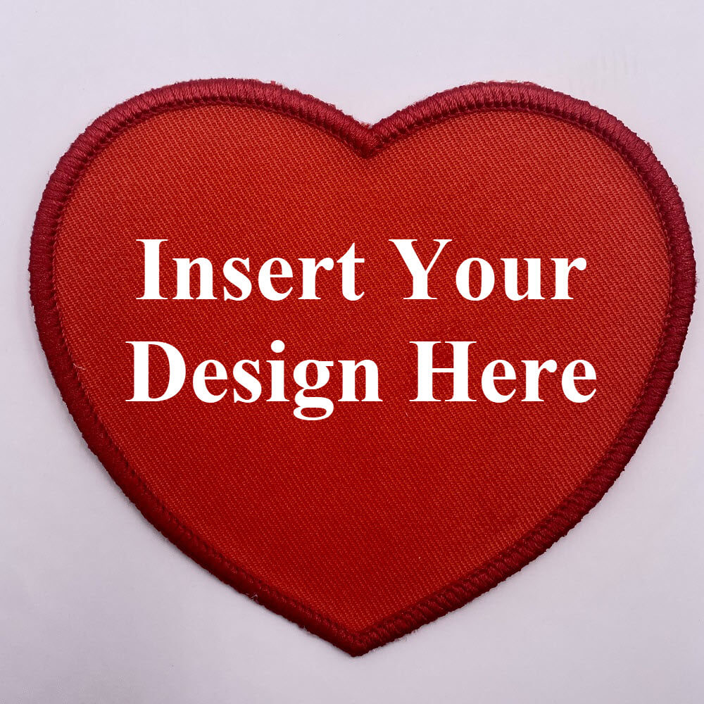 Heart Shaped Embroidery Patch Design