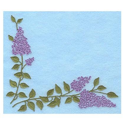 Lilac Blooms Corner