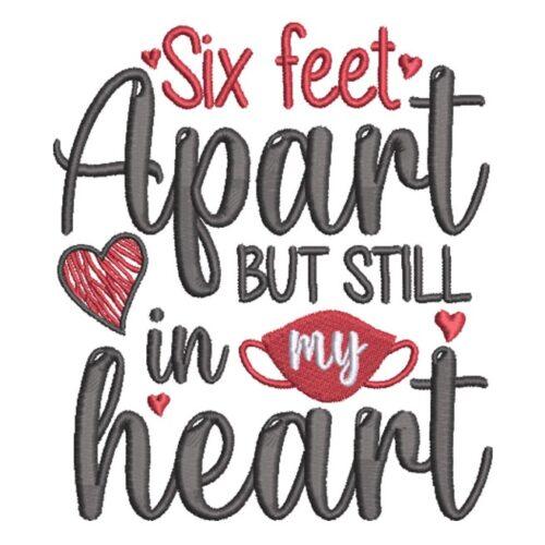 Six Feet Apart Heart