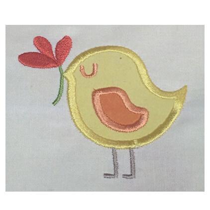 spring bird applique