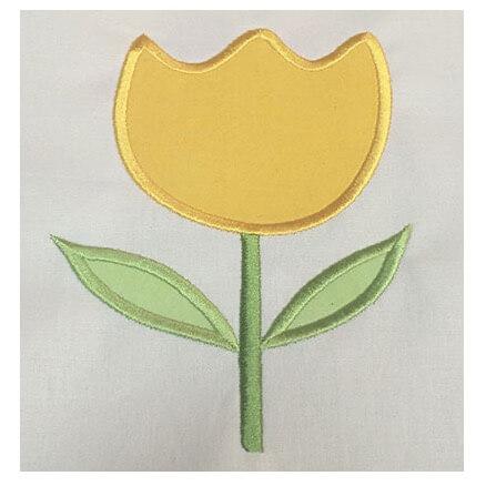 spring rose applique