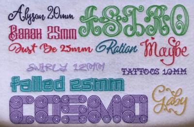 ESA Wilcom Fonts