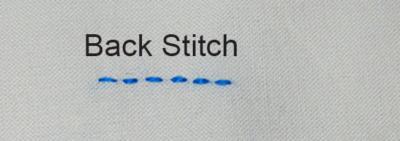 Back Stitch Redwork