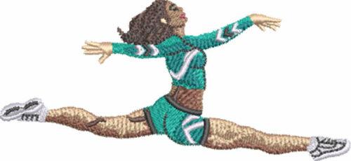 cheer grand jete embroidery design
